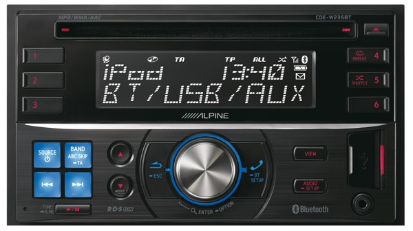 CD/MP3 ресивер с Bluetooth Alpine CDE-W235BT