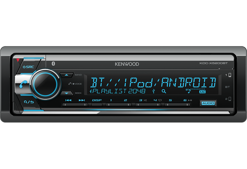 Автомагнитола CD/USB/MP3/Android с Bluetooth Kenwood KDC-X5200BT