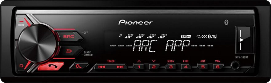 Автомагнитола без CD-привода с Bluetooth Pioneer MVH-390BT